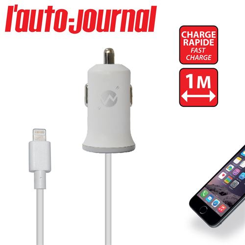 Picture of Chargeur voiture 2A  Iphone Blanc